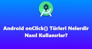 Android OnClickListener metodu yazma
