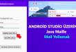 Android Studio Otomatik Mail Göndermek