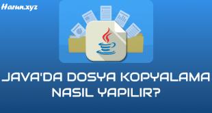 Java Dosya Kopyalama