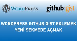 Wordpress Github Gist Eklemek